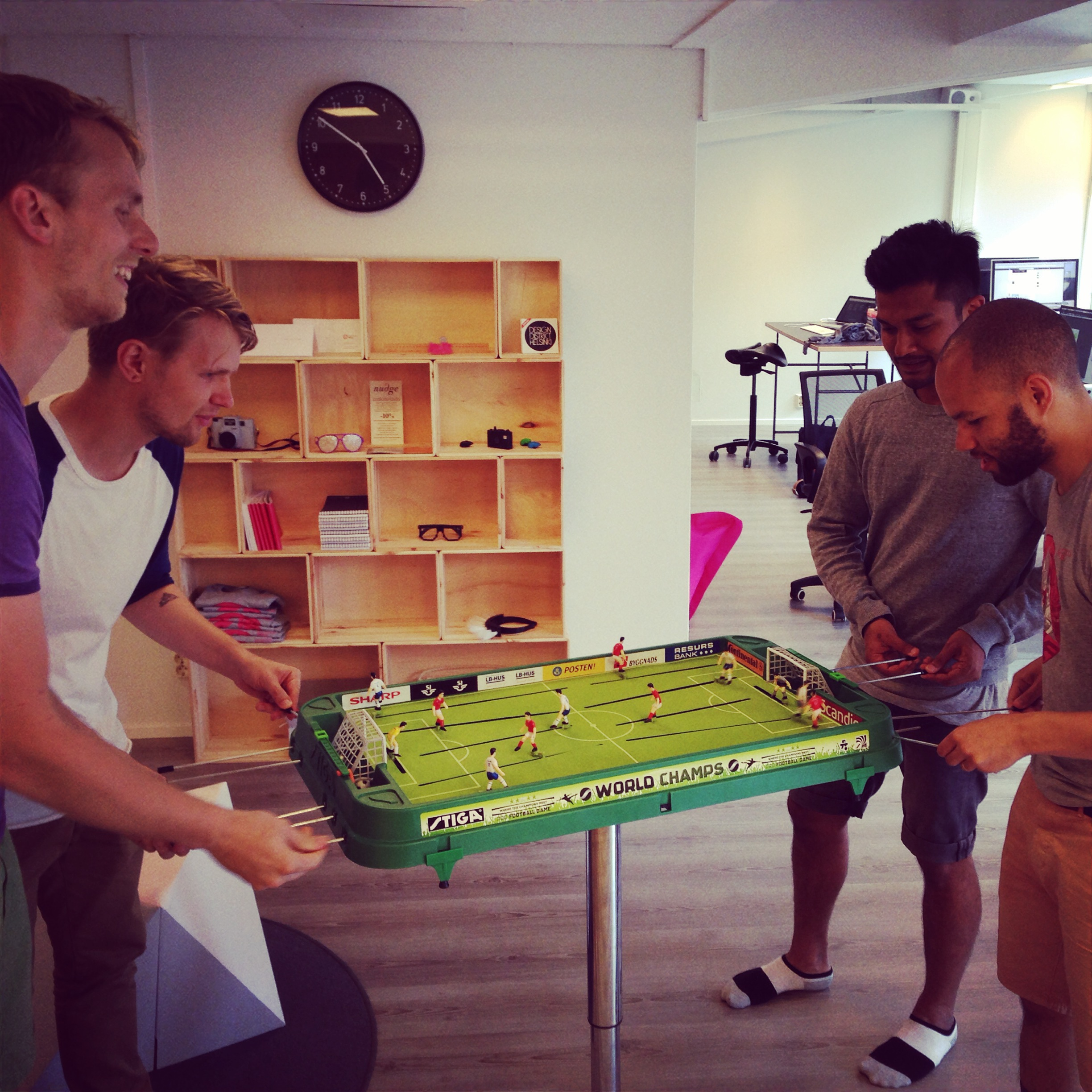 Having a break from website projects to play a little table soccer