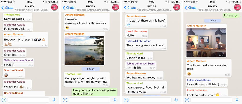 Whatsapp is the casual tool in our web design studio
