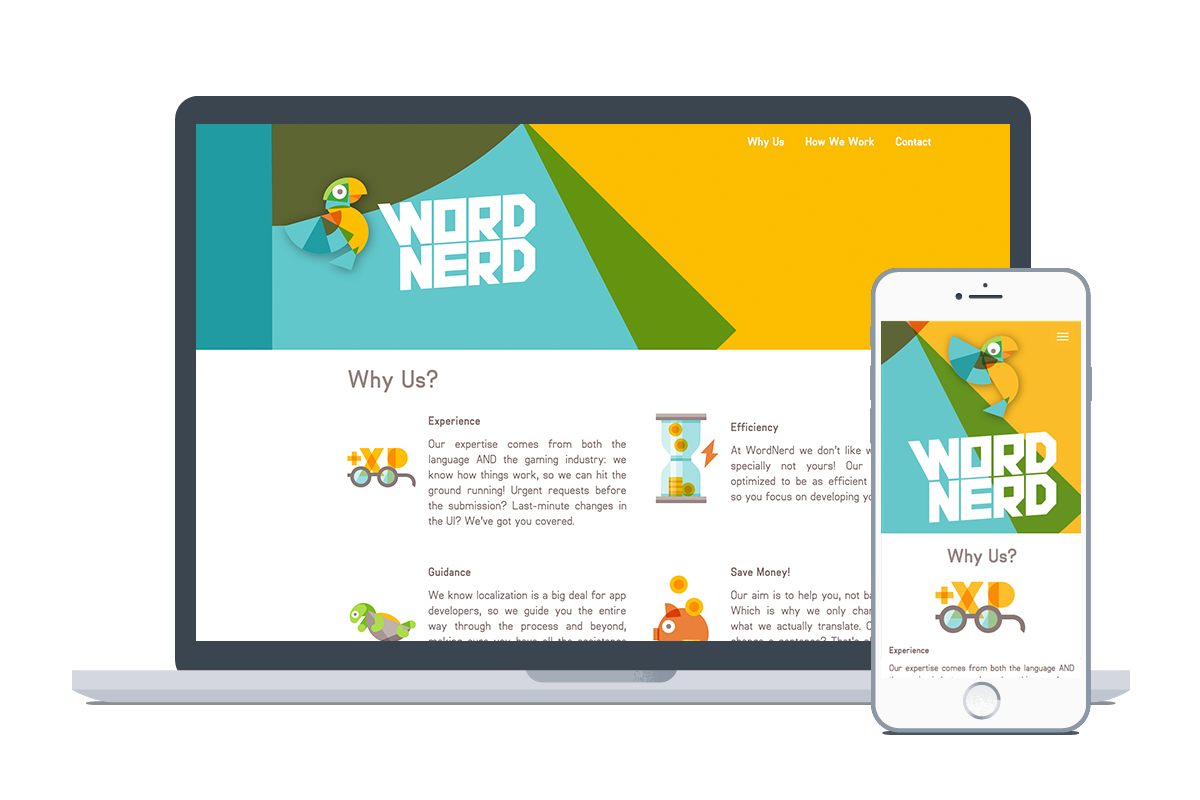 The ready WordNerd website