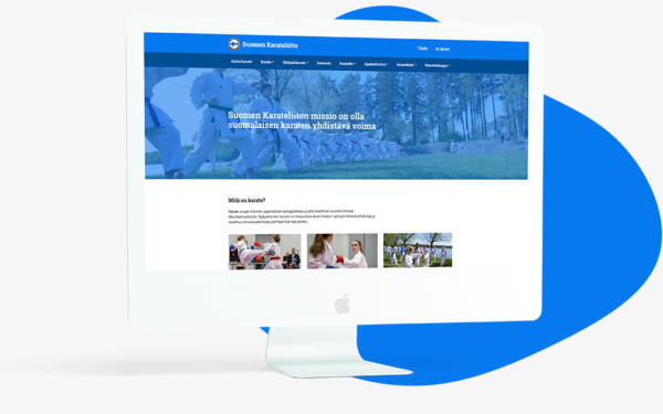 karateliitto-wordpress-verkkosivut-imac