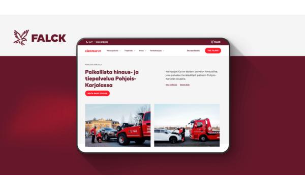 Falckin yrittäjäverkoston monistettava WordPress sivustopohja