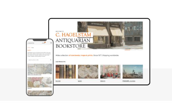 Hagelstam WooCommerce-verkkokauppa layout
